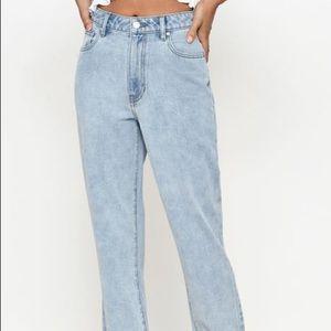 Pacsun High Waisted Frayed Hem Mom Jeans size 25